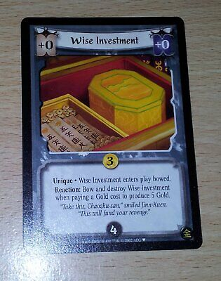 L5R - Legend of the Five Rings CCG - Promo - Wise Investment