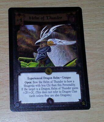 L5R - Legend of the Five Rings CCG - Promo - Helm of Thunder (Foil)