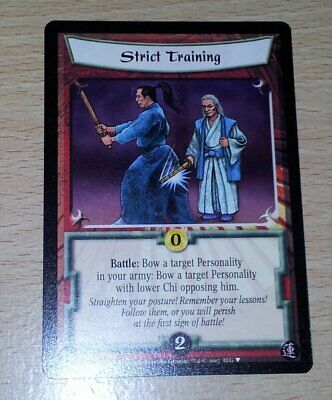 L5R - Legend of the Five Rings CCG - Promo - Strict Training