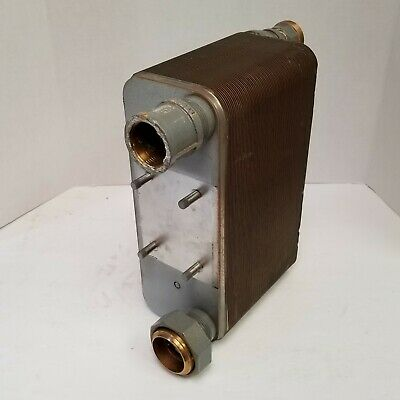 "THS FP5X12-70 70 Plate Water to Water Brazed Plate Heat Exchanger 1¼"" MPT Ports"
