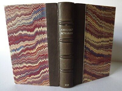 Johnson's Dictionary Of The English Language In Miniature - London - 1809