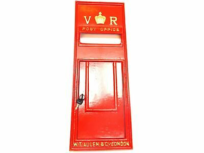 Replica GPO Wall Fascia Royal Mail Victoria Regina VR Post Box  - Red