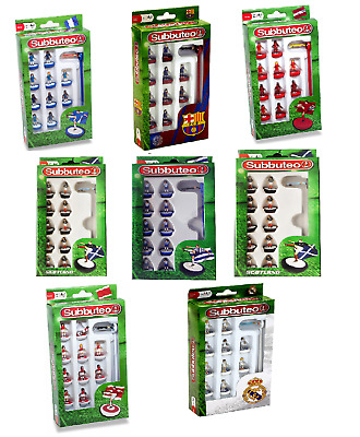 Subbuteo Team Set - Scotland/Barcelona/Real Madrid/Rangers/Blue&white