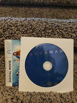 AQUAMAN BLU RAY Never Watched Includes Digital  Only 99 Cents!