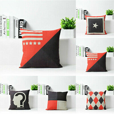 Home Decor Geometry Nordic Style Cotton Linen Throw Pillow Case Cushion Cover