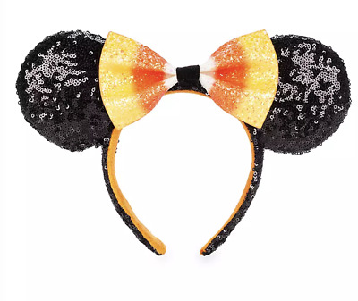 Disney Parks Halloween Minnie Candy Corn Ear Headband Adults New with Tag