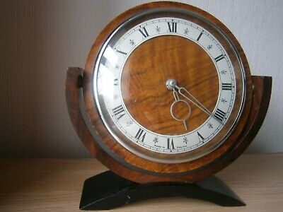 Wind Up , Smiths Wooden Mantle Clock, Exellent Condition