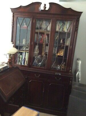 Mahogany style Reproduction Display Cabinet Book Case. Used condition.