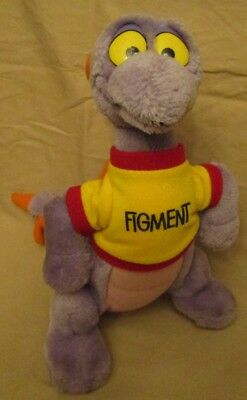 Figment - 1982 - EPCOT - WALT DISNEY WORLD - Plush Stuff Toy Purple Dragon - 11""
