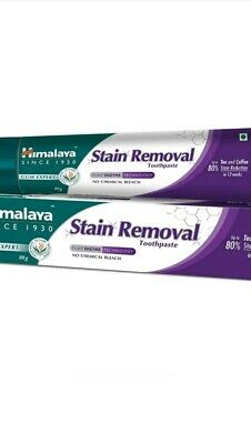 HIMALAYA  HERBAL  STAIN REMOVEL  TOOTH PASTE  80g x 1 no chemical bleach UK sell