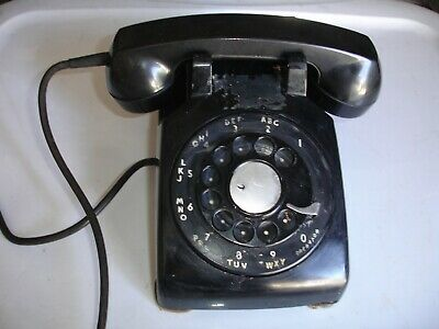 Vintage Rotary Phone Telephone Black