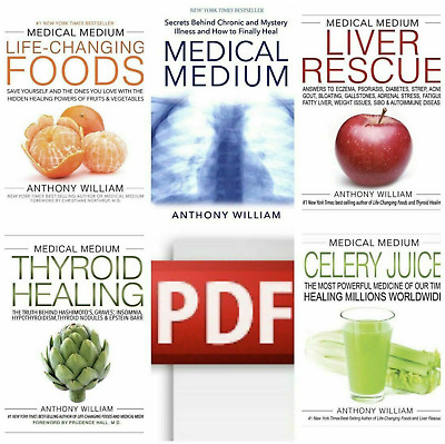 5 eBo0ks Set By Anthony William Medical Medium Liver Rescue Thyroid Celery Juice