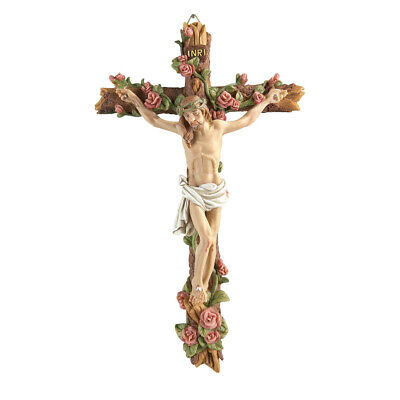 Hand-painted Crucifix Wall Decor