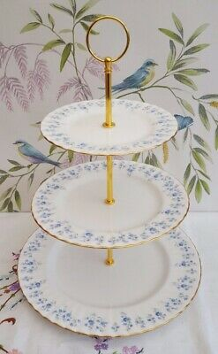 """Royal Albert """"Memory Lane"""" XL 3-tier cake stand  ***REDUCED*** MORE AVAILABLE***"""