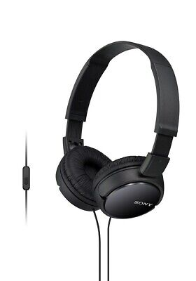Sony MDRZX110AP ZX Series Extra Bass Smartphone Headset w/ Mic - Black