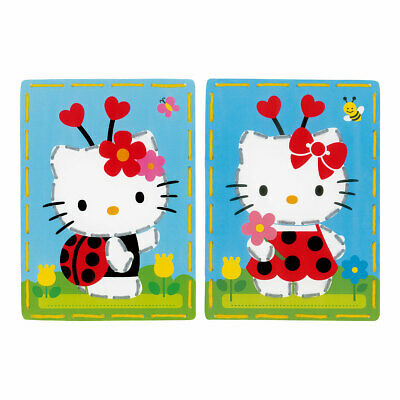 Embroidery Cards Christmas Decorations (Set of Two) Hello Kitty with Ladybug