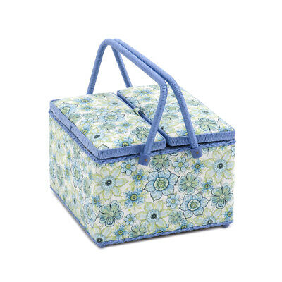 S&W Collection HGTLE280 | Twin Lid Sewing Box | Square | Lydia Pattern