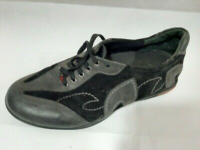 EXCE CON ZIERA Size 38.5W black soft leather fashion sneakers comfort shoes