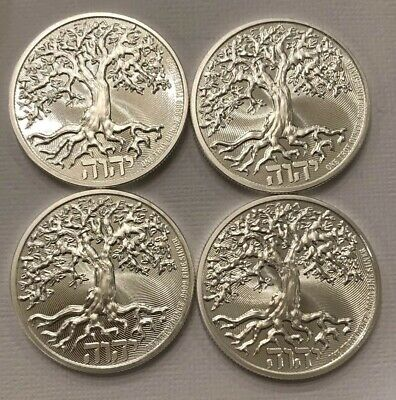 Lot Of (4) Tree Of Life 1 Troy Oz Silver Coins. Limited Quantity!          L#5
