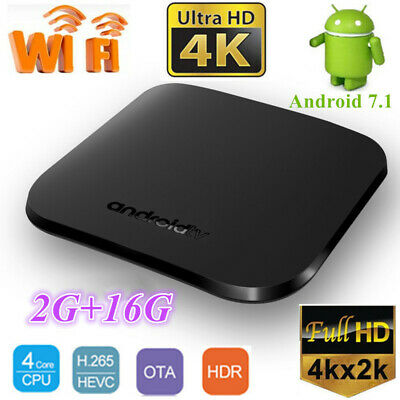 Smart M8S PLUS W TV Box 2+16G S905W WiFi Quad Core 4K OTA HDR Android 7.1 Player