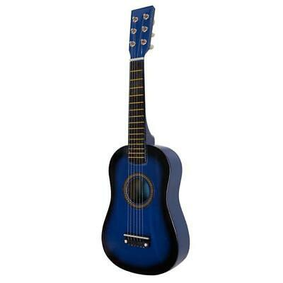 Kids Acoustic Guitar With Guitar Pick Steel Strings For Beginners color Blue
