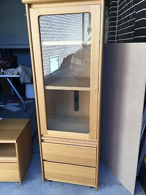 Display Cabinet solid Tasmanian Oak by Chiswell. Used in good condition.
