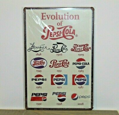 PCMS3 PEPSI-COLA Metal Sign New 30 cm H X 20 cm W