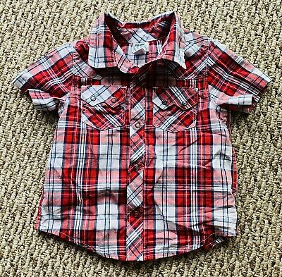 Old Navy Toddler Boy's Cowboy Style Shirt Size: 2T Short Sleeve Multicolored