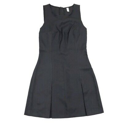 American Apparel Women's Solid Black Sleeveless Pleated Straight Dress Size S
