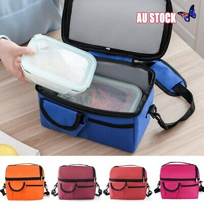 Large Insulated Lunch Bag Cooler Picnic Travel Food Box Tote Carry Bags Portable