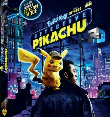 Detective Pikachu 3D BLURAY (no region code required )