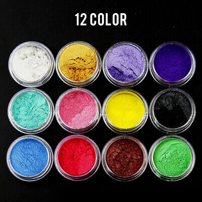 12 Colors 7g Pearl Powder Mica Pigment Perfect for Soap Making Cosmetics Resin