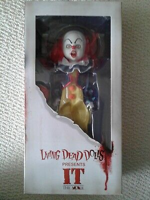 Living Dead Dolls Presents Pennywise IT Doll New Mezco Horror Clown Doll Scary