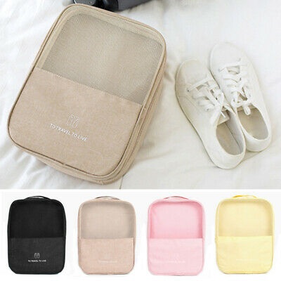 3 Pairs Waterproof Shoes Travel Bag Portable Nylon Zip Folding Pouch Storage