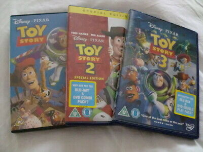 TOY STORY~THE COMPLETE DISNEY PIXAR DVD COLLECTION (1,2,3) DVD SET 1p!!!!!!!!!!!