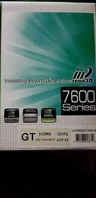 Inno3D 7600GT GeForce AGP Graphics Card