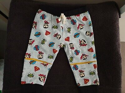 Boys new fleecy SUPERMAN pants size 2
