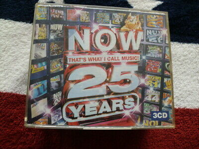 NOW THAT'S WHAT I CALL MUSIC 25 YEARS (2008) 3 CD SET *60 POP CLASSICS* 99p