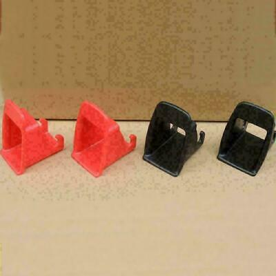 Black/Red 1 Pair Car Baby Seat Latch Belt Connector Plastic-Guide Groove Ni L0W5