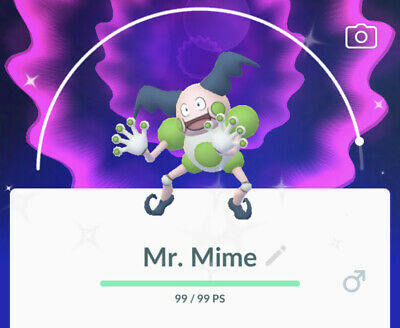 Mr. Mime Shiny (ULTRA Rare Regional Pokemon) - Pokemon Go Trade