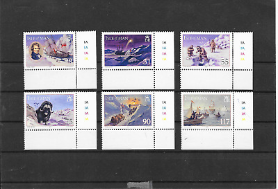 Isle Of Man  International Polar Year Corner S/Edge And Numbers Mnh 2007 Lot A88