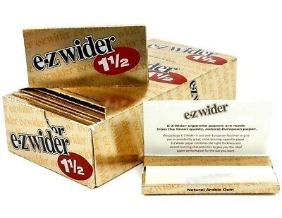 EZ Wider Light Gold Rolling Papers 1 1/2  Buy 4@Only $1.49 per pack USA SELLER