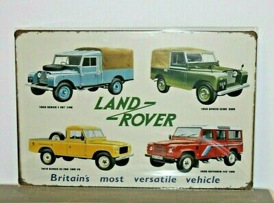 LRMS2  Land Rover Metal Sign New 30 cm H X 20 cm W