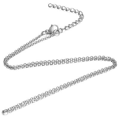 Chain Necklace 80cm +5cm Stainless Steel Anti-allergic Link 1,6mm Clasp