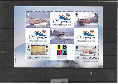 Isle Of Man Lifeboat With  I B R A  Over Print  Mnh 1999 Lot A104