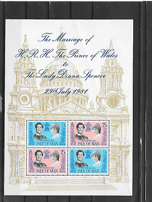 Isle Of Man Marriage Of Prince Of Wales And Diana Spencer Mnh 1981 Lot A100