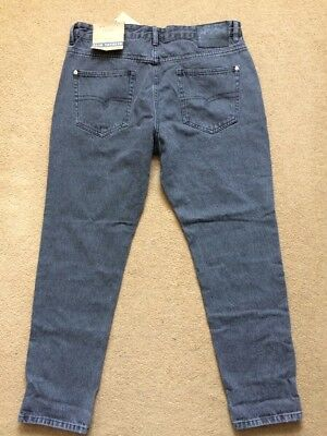 """NEXT Men's Slim Tapered Fit Grey Jeans, Size 32S, W32"""", L29"""", £32"""