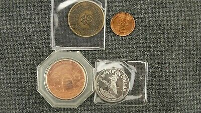 Lot of 4 tokens medallions collector coins