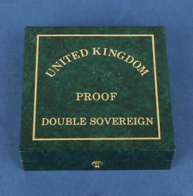 Great Britain: 1989 or other date Double Sovereign, Royal Mint case (empty)