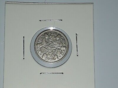 1931 Silver Sixpence Coin